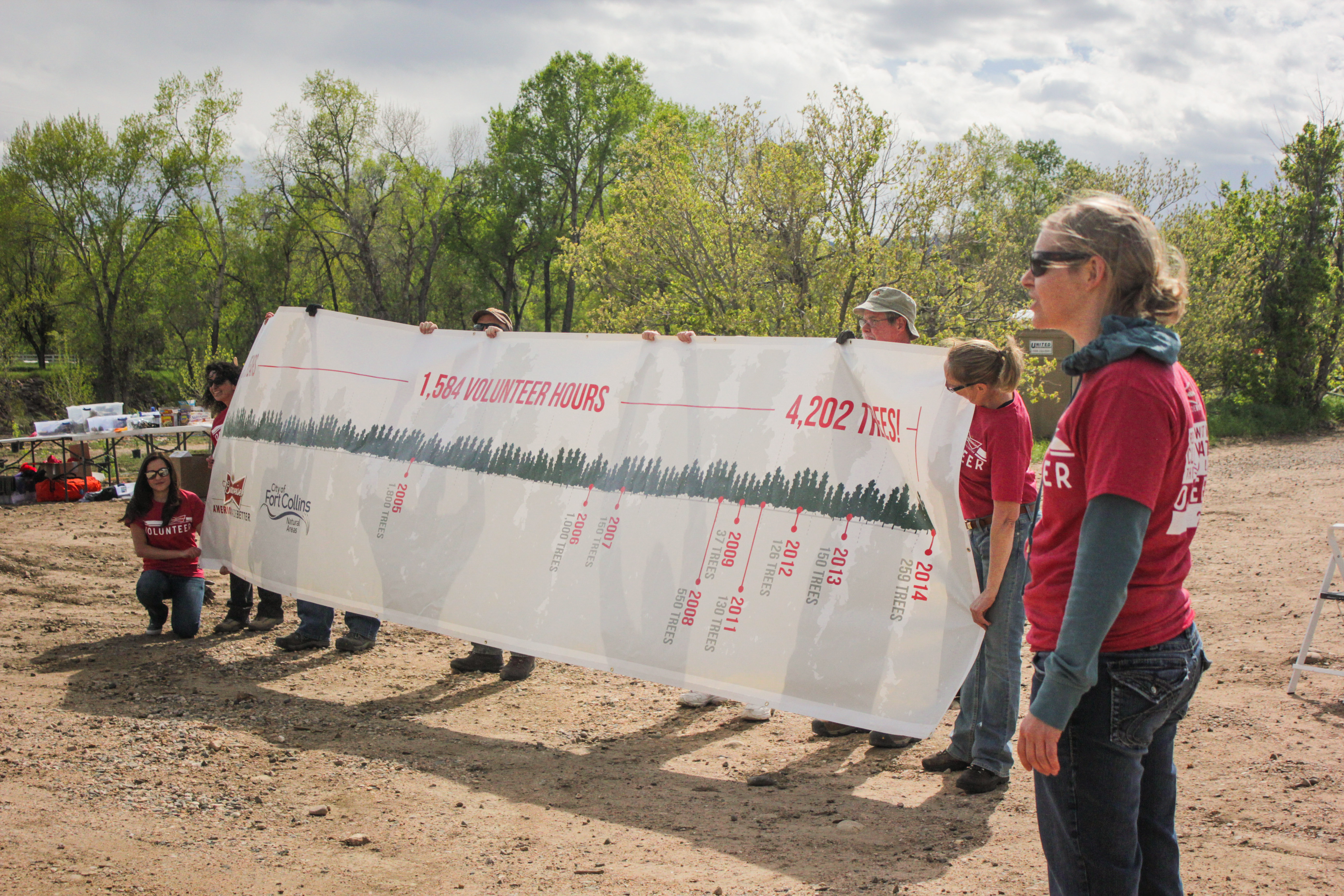 Anheuser-Busch tree-planting volunteer event