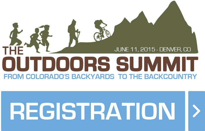 The Outdoors Summit signage