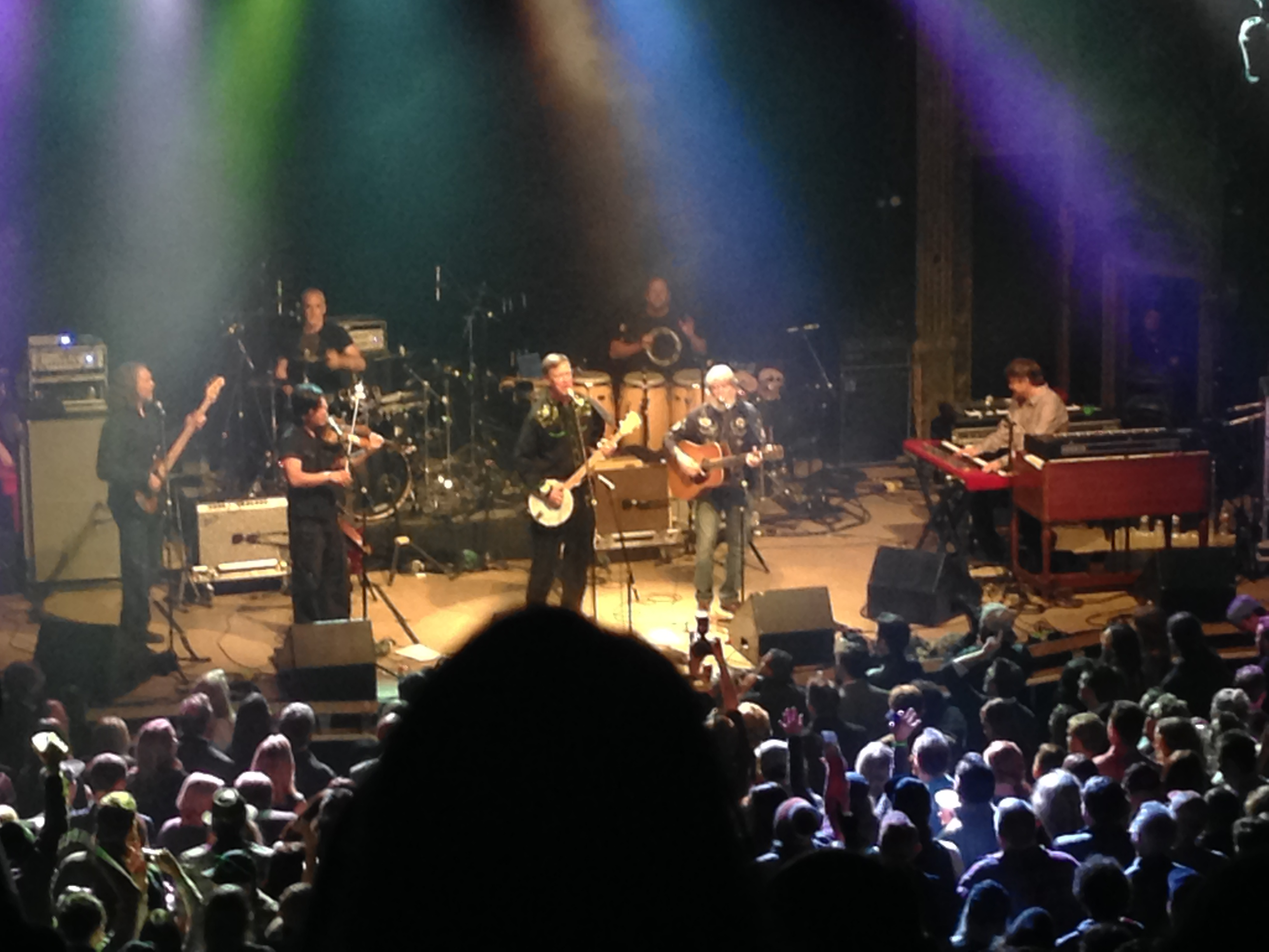 Governor Hickenlooper performs with String Cheese Incident at the Colorado Up! Inaugural Ball in January, 2015