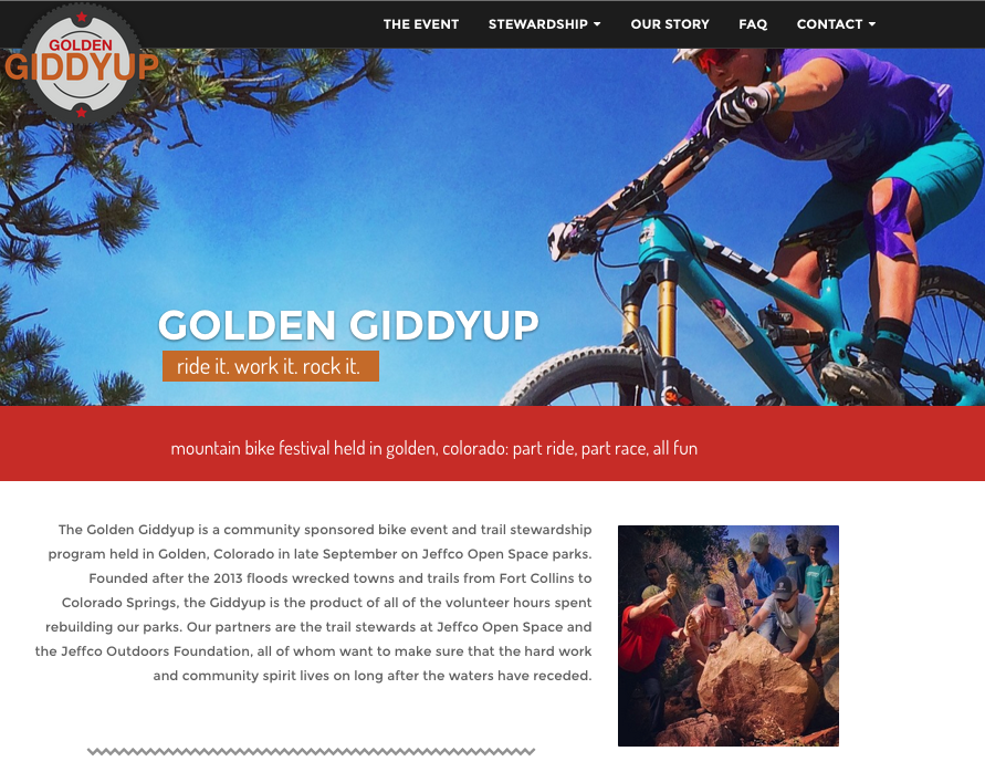 Homepage with rotating slider
