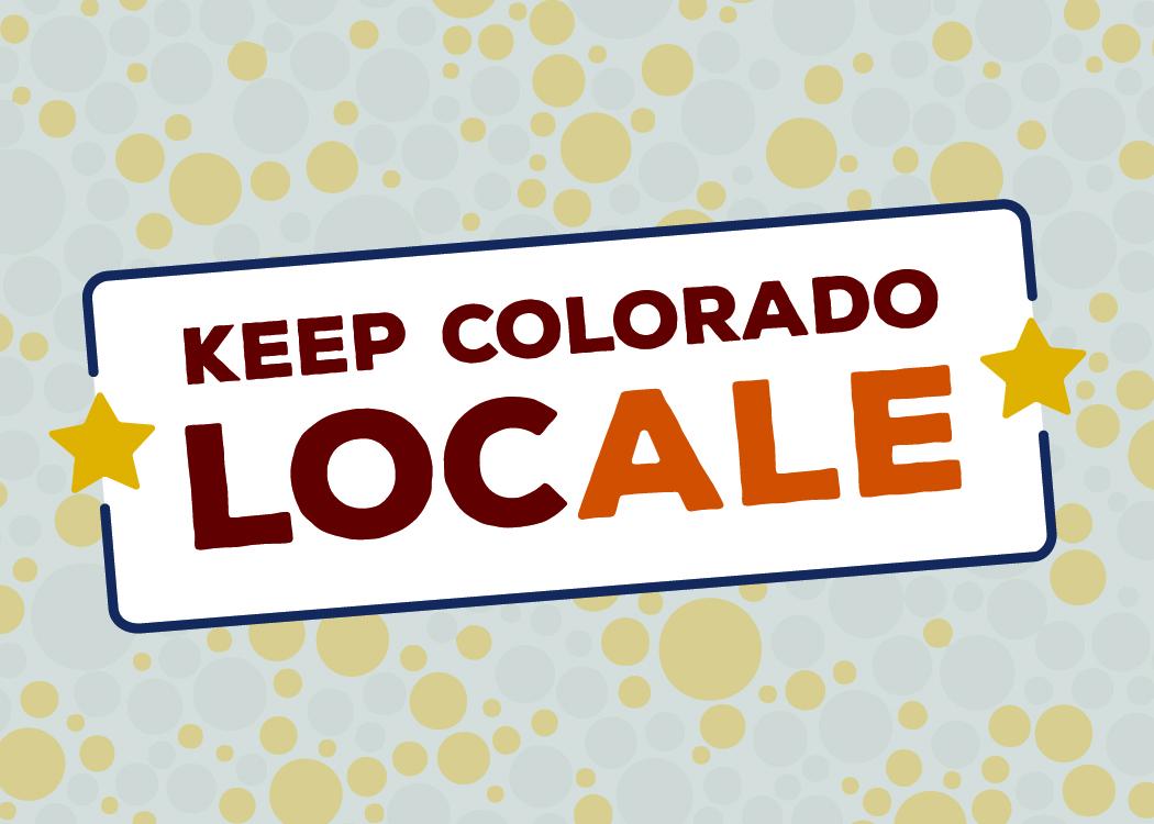 Keep Colorado Local LocALE logo variation