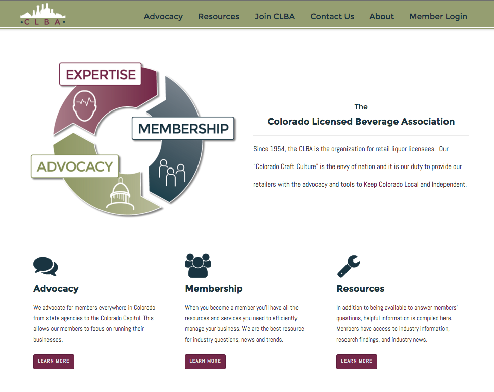 MyCLBA.com homepage features mission and objectives of the CLBA