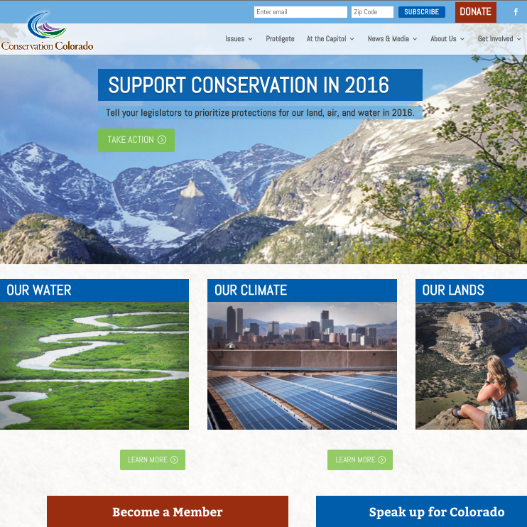 Conservation Colorado homepage