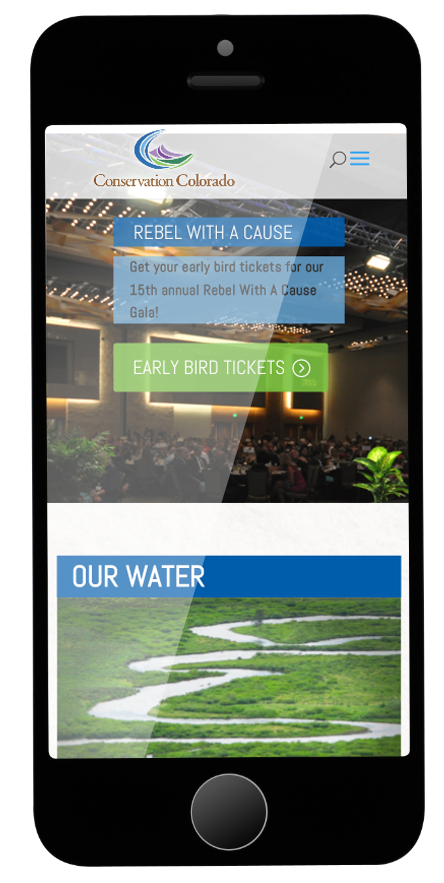 The site is fully mobile responsive.