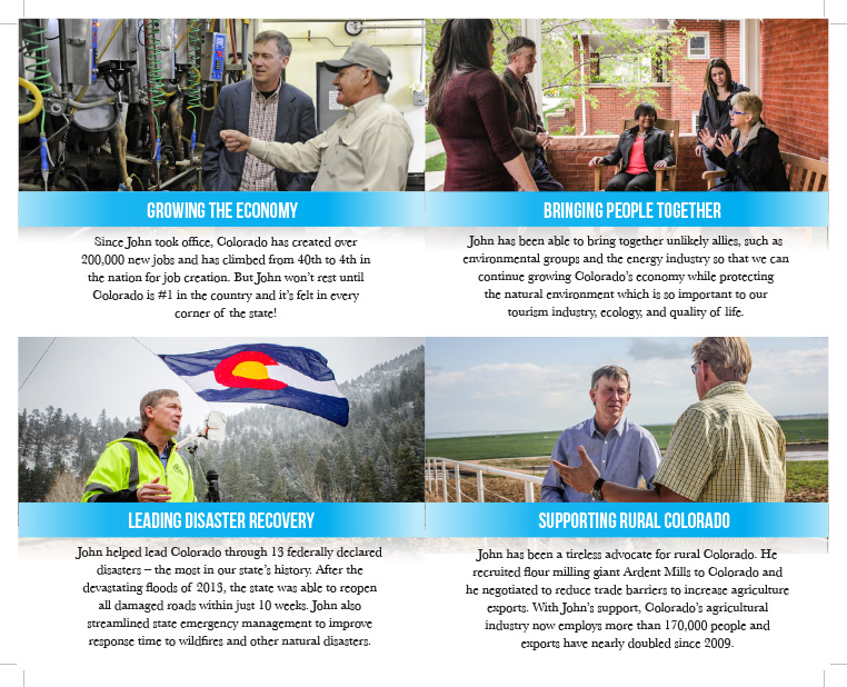 Hickenlooper for Colorado walk lit brochure inside