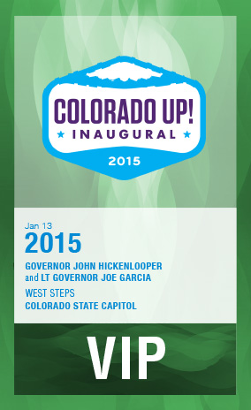 Credentials for Colorado Up! Inaugural