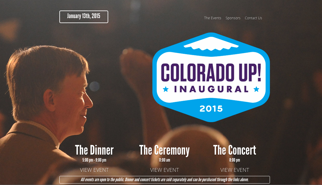 Colorado Up!  Inaugural web site home page