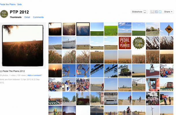 Flickr provides a catalog of all the PTP photos over the years, as well as another portal for fan engagement.