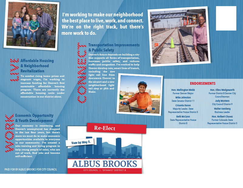 Albus Brooks mailer #1 back side