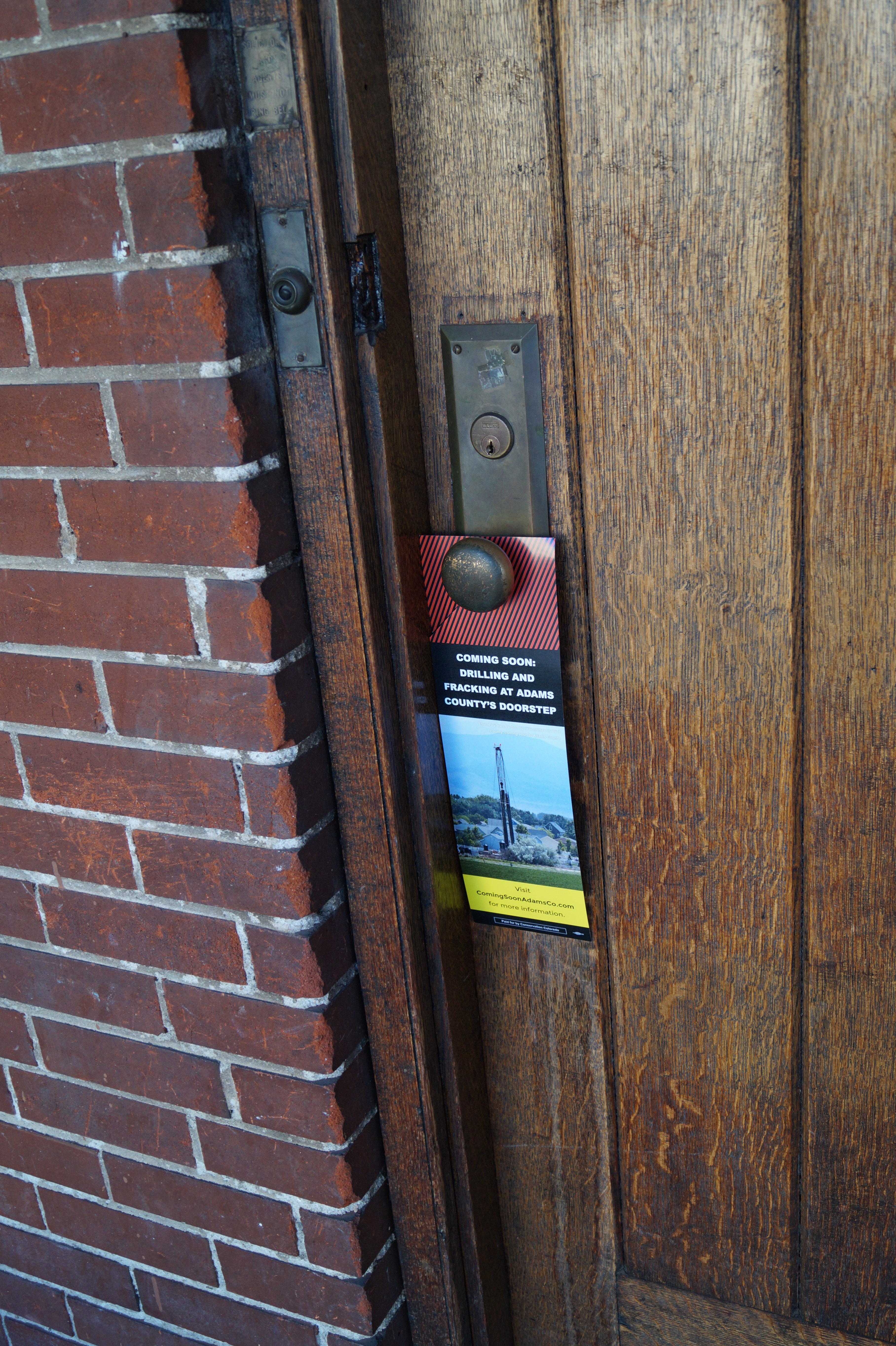 Coming Soon door hangers dropped in Adams County in February 2016.