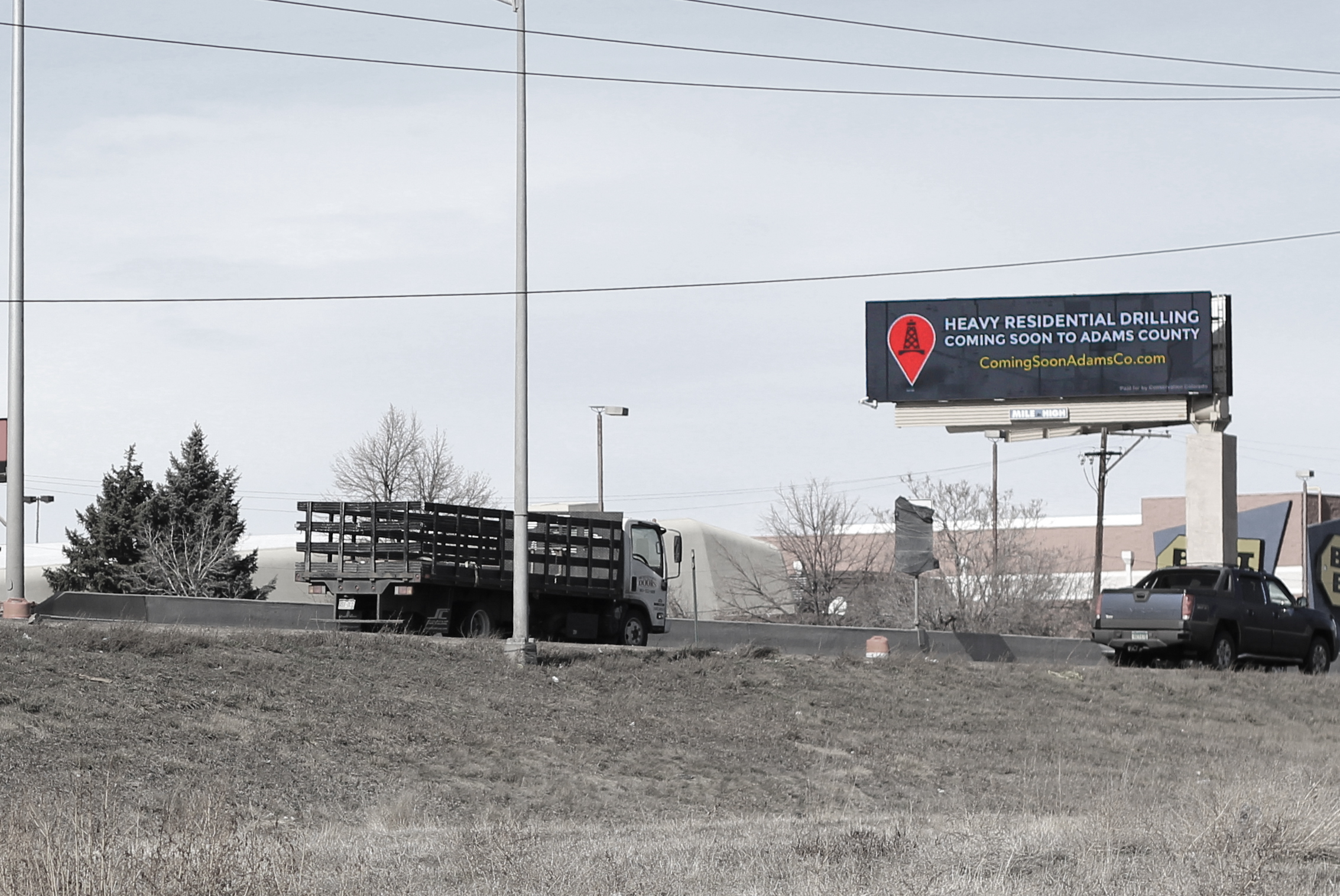 Coming Soon digital billboard along I25