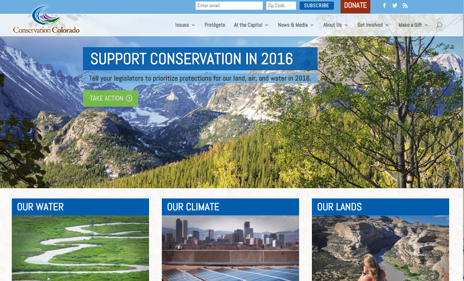 Conservation Colorado launches new web site