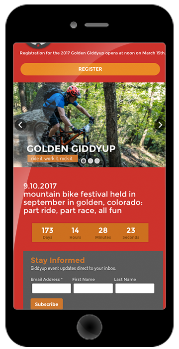 Golden Giddyup site is fully mobile responsive