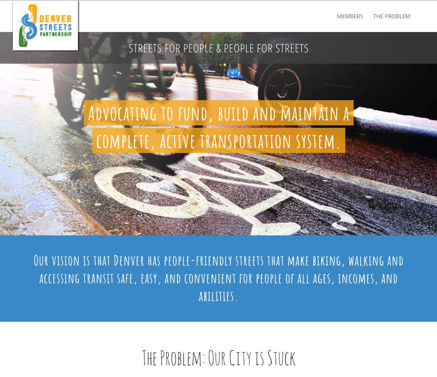 DSP homepage below the fold.