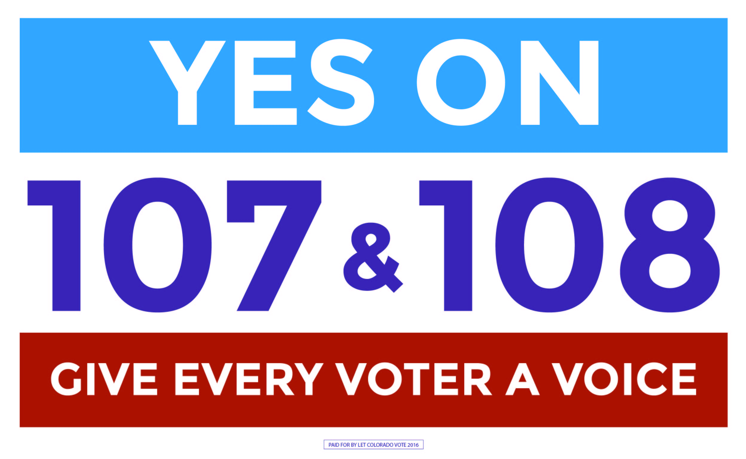 Let Colorado Vote 2016 logo variation