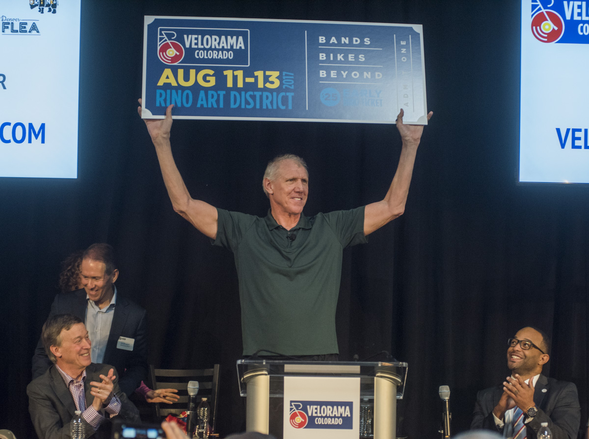 Basketball hall-of-famer Bill Walton speaks at the Velorama Colorado announcement Wednesday March 1, 2017. <i>(Photos by Evan Semón Photography) </i>