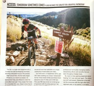 5be68677a7d Just this past month we were featured in the summer issue of Dirt Rag  Mountain Bike Magazine. The article highlights some great photos of the  first-ever ...