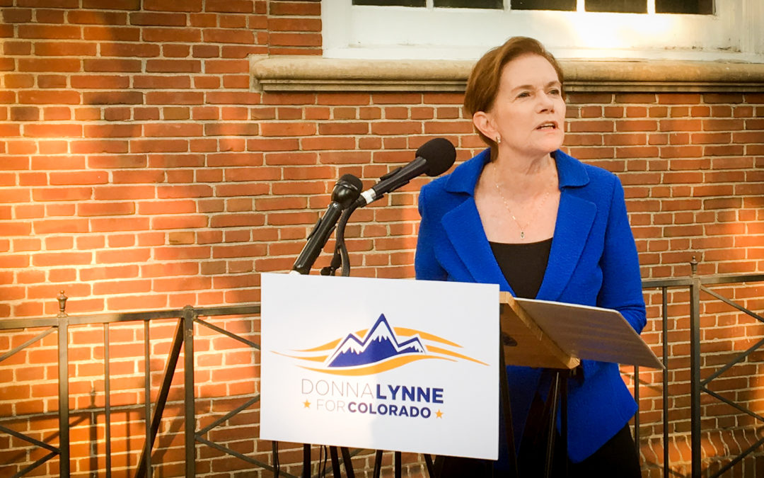 Colorado Lt. Governor and Chief Operating Officer Donna Lynne formally announces bid for Governor