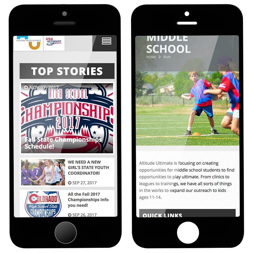 AYU site mobile responsive mockup