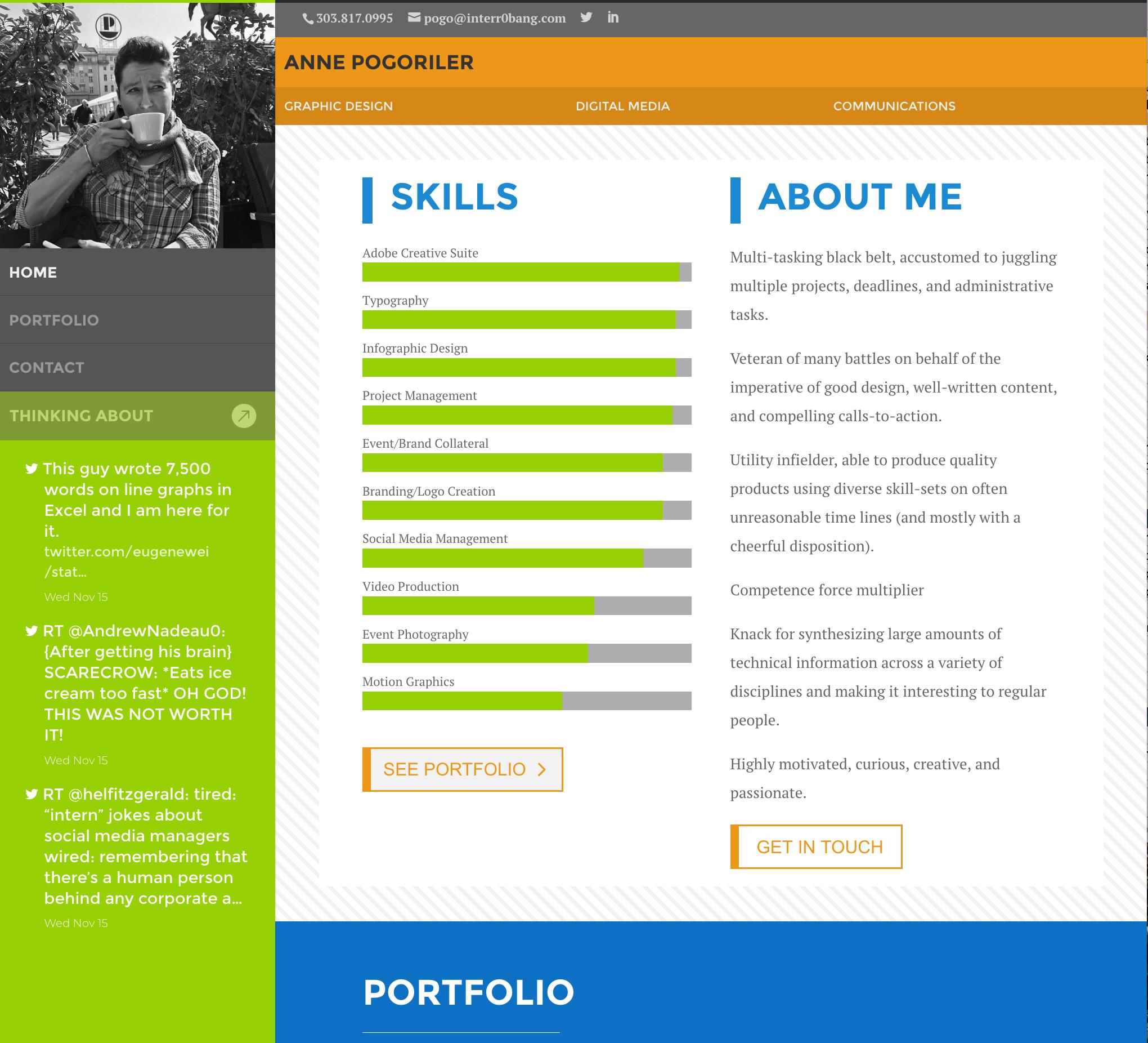 Personal portfolio web site
